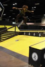 As soon as the course opened up, the fatties to flatties got put down.  Tyson Peterson has a 360 flip to offer.