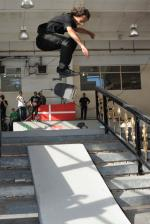 Evan Smith qualified 1st today. That's a nollie heel into the bank.