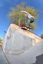 Trap Nate, smith grind out in AZ.