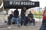 The Skateboarder's Brain panel with Rodney Mullen, Chris Lepple, and host Jeff Brodie.