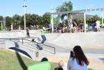 Lourdes Luque is at her first Grind for Life Contest. That's a boardslide in the Girls Street Division.