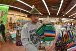 Casey found a poncho for his board.