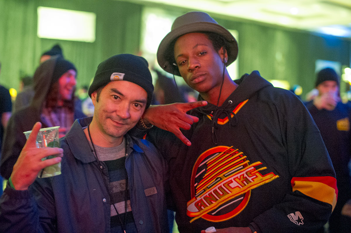 Rob Meronek and Joey Badass at Zumiez 100k