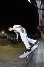 Daniel Vargas, chillin' on a back smith.