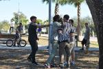 Tim tried to ref a local skatepark fight. Everyone thought it was funny except the kids in the fight.