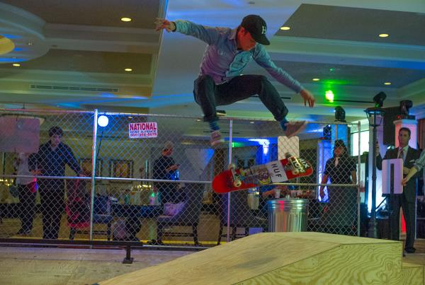 Brad Cromer Kickflip at a Bar Mitzvah