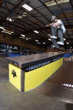 Ryan Decenzo, kickflip noseblunt slide.