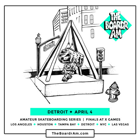 The Boardr Am Detroit is on April 4