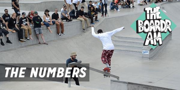 Statistics from The Boardr Am, a National Top Amatuer Skateboarding Series