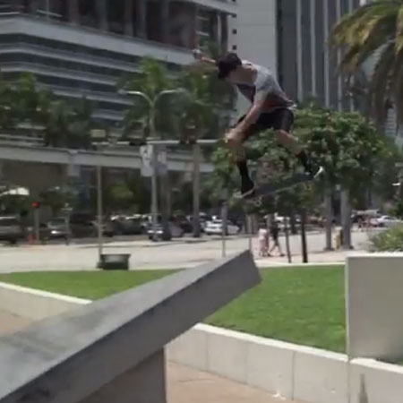 Nyjah Huston and Crew in an AYC Raw Footage Edit