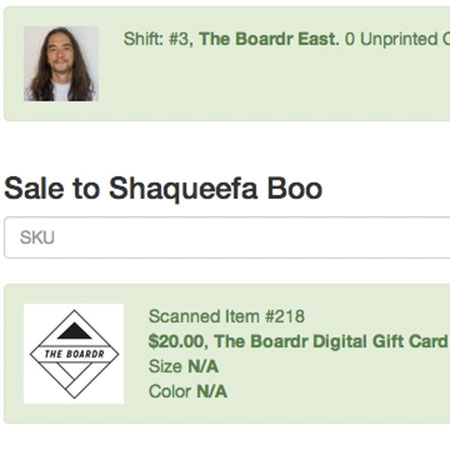 Shaqueefa Buys a Digital Gift Card at The Boardr