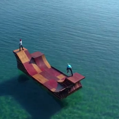 California Wants You to Move There, Uses Floating Skateboard Ramp