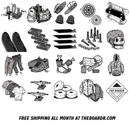 Free Ground Shipping All Month in The Boardr Store