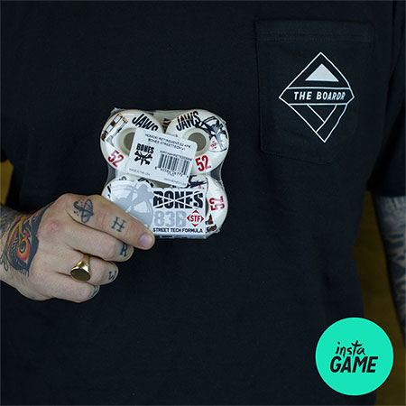 InstaGame: Win Our T Shirt and a set of Bones Wheels