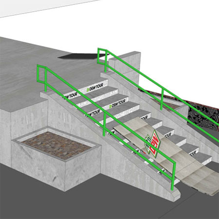 Dew Tour Brooklyn 2014 Course Rendering