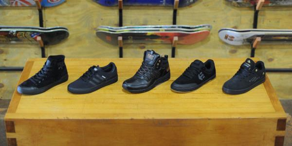 Five All Black on Black on Black Everything Shoes