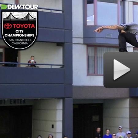 Ryan Sheckler's Dew Tour Streetstyle Kickflip