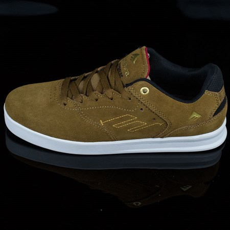 Size 11 in Emerica The Reynolds Low Shoes, Color: Brown, White