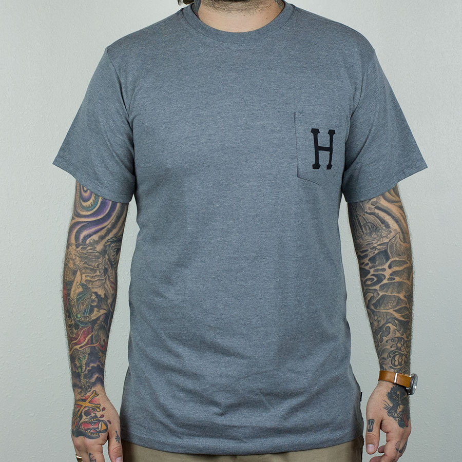 Grey, Black T Shirts Classic H Pocket T Shirt in Stock Now