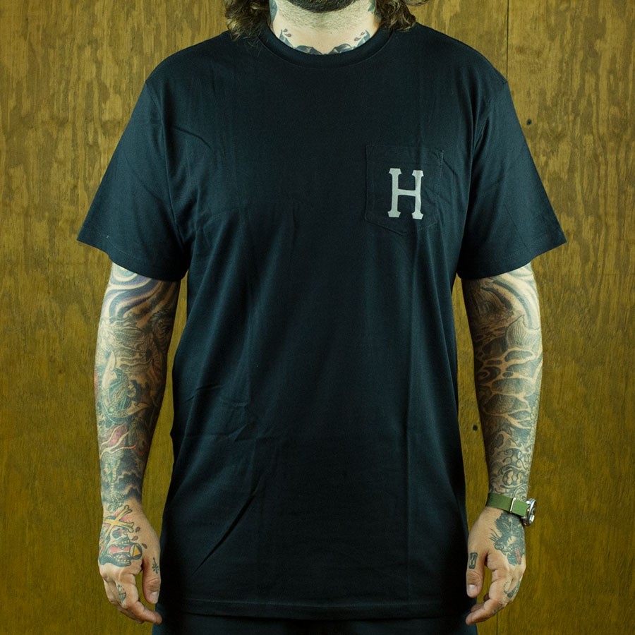 Black, Grey T Shirts Classic H Pocket T Shirt in Stock Now