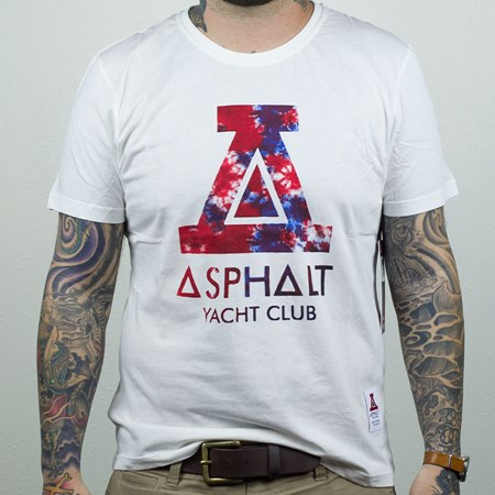 Asphalt Yacht Club Tie Dyed Big A T Shirt White