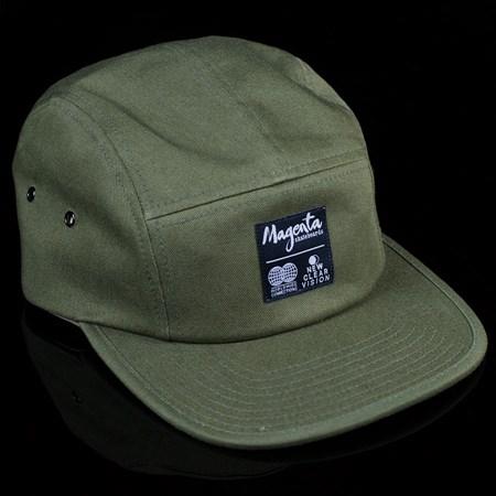 Magenta Subdivision 5 Panel Hat Olive