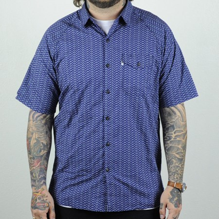 Levi's Skate Short Sleeve Manual Shirt Patriot Blue Moon Phase