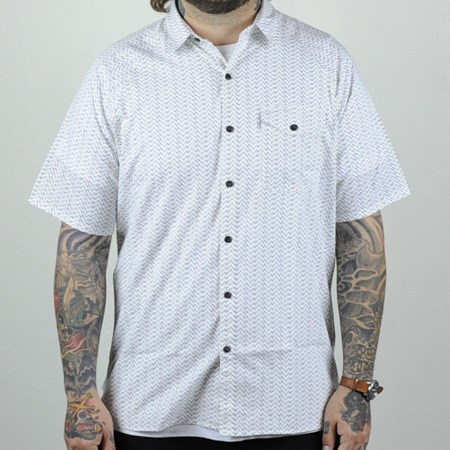 Levi's Skate Short Sleeve Manual Shirt White Moon Phase