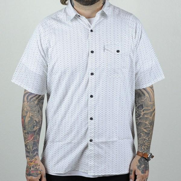 Levi's Skate Short Sleeve Manual Shirt White Moon Phase