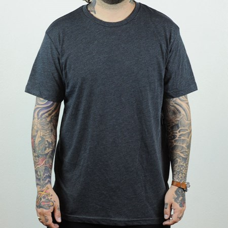 Volcom Heather Basic T Shirt Charcoal Heather in stock now.
