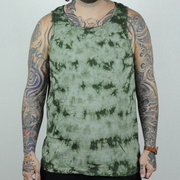 Volcom Crystal Wash Tank Top Faded Army