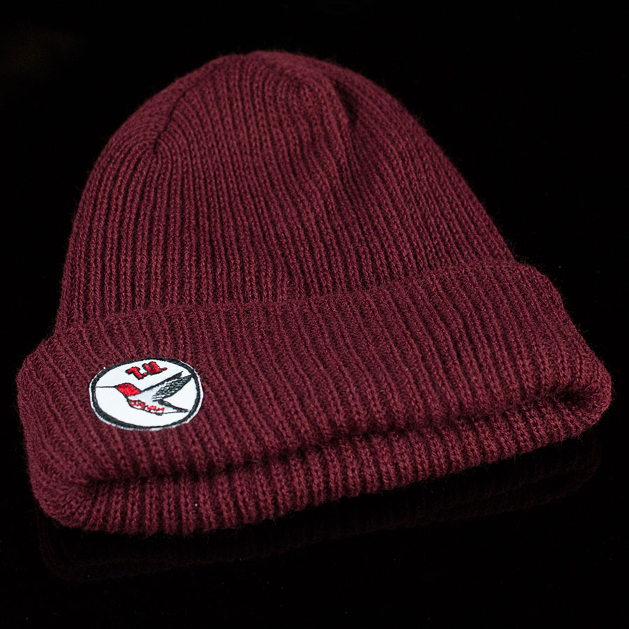Burgundy Hats and Beanies H-Bird Beanie in Stock Now