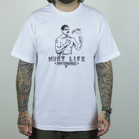 Hurt Life Keep On Fighting T Shirt White