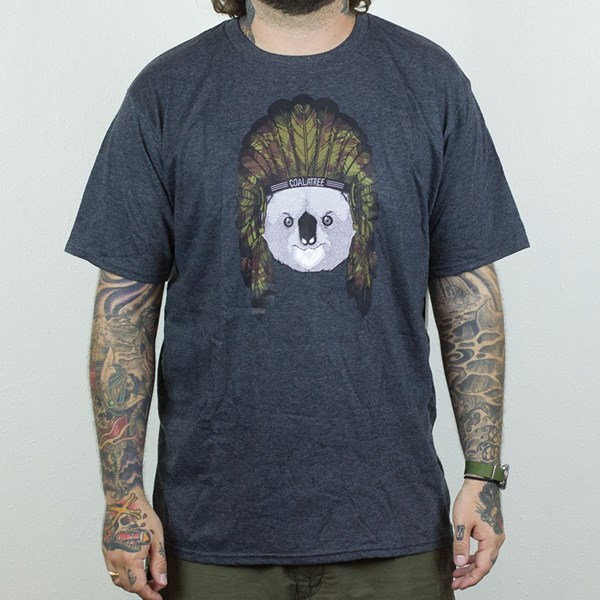 Coalatree Organics Headdress Logo T Shirt Charcoal