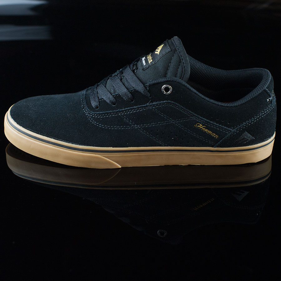Black, Gum Shoes The Herman G6 Vulc Shoes in Stock Now