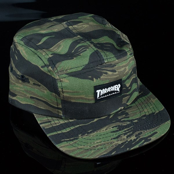 e50689fc7cb Thrasher 5 Panel Hat Tiger Camo In Stock at The Boardr