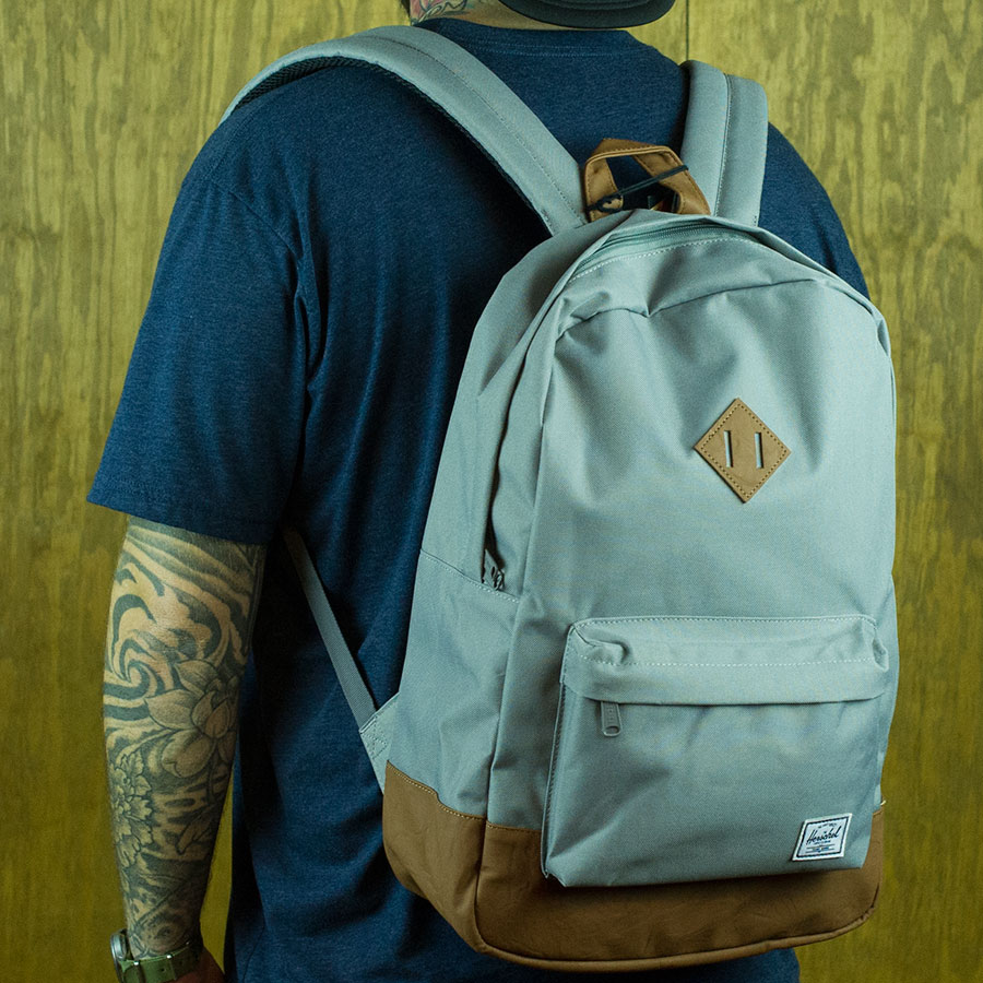 Grey Backpacks and Bags Heritage Backpack in Stock Now