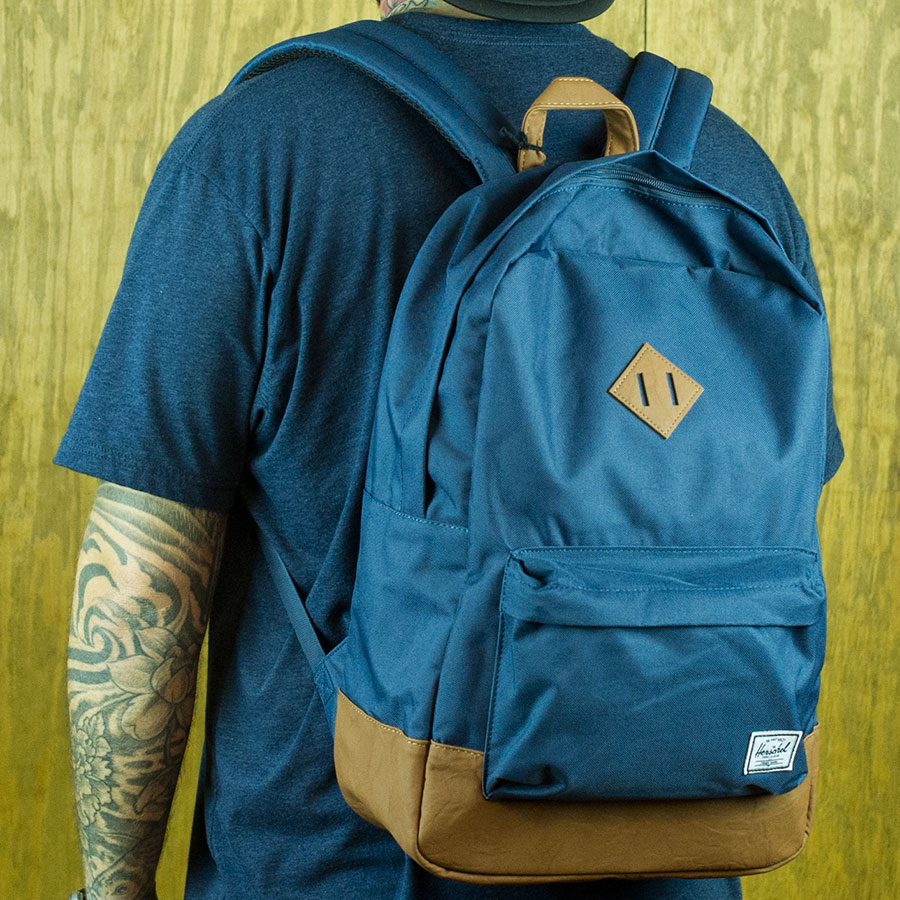 Navy Backpacks and Bags Heritage Backpack in Stock Now