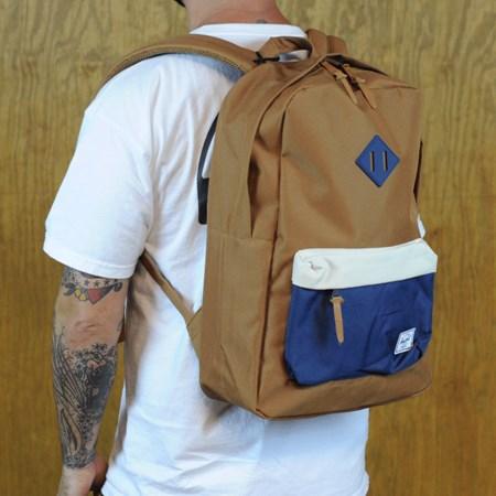 Herschel Heritage Backpack Caramel, Navy