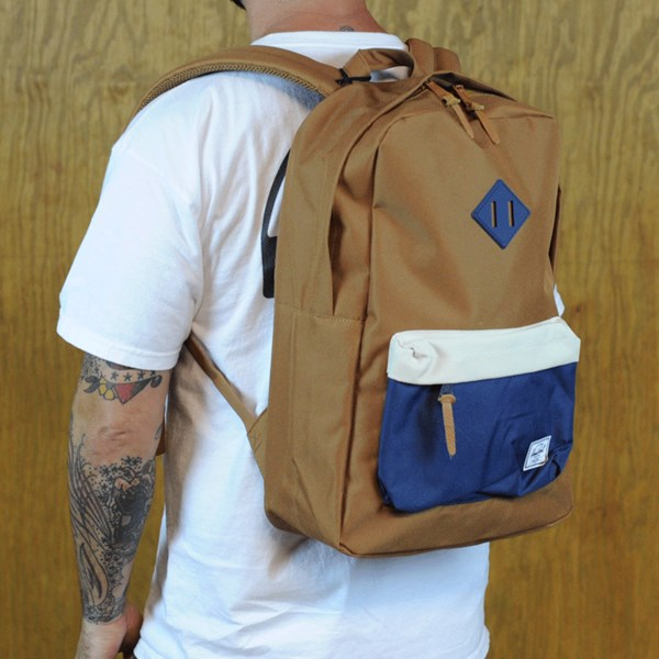 Herschel Heritage Backpack Caramel, Navy