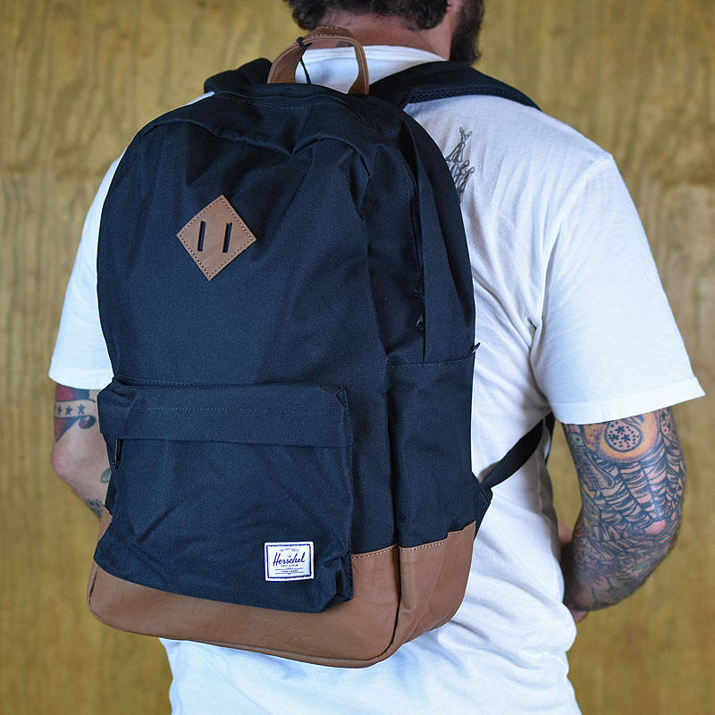 Black Backpacks and Bags Heritage Backpack in Stock Now