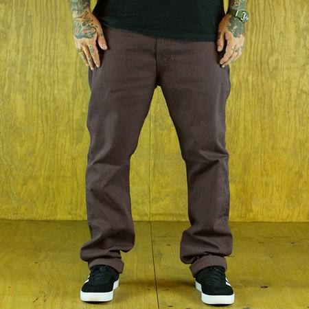 Size 32 X 32 in Levi's 513 Line 8 Pants, Color: Rum Melange