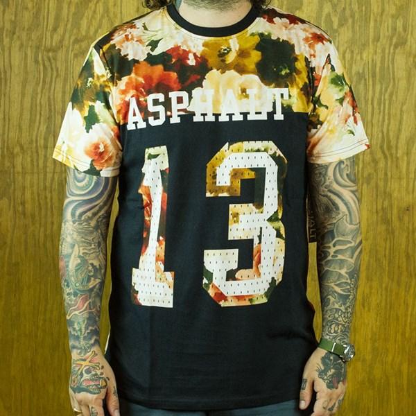 Asphalt Yacht Club Flora Varsity T Shirt Black