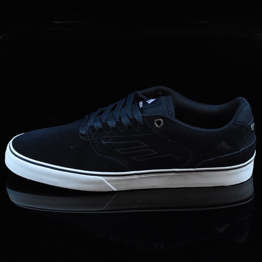 Navy, White, Gum Shoes The Reynolds Low Vulc Shoes in Stock Now