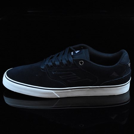 Size 9 in Emerica The Reynolds Low Vulc Shoes, Color: Navy, White, Gum