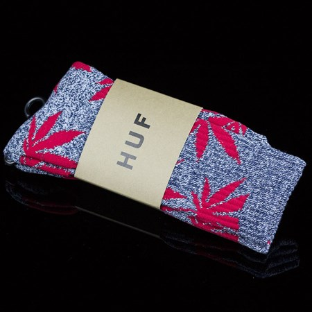 HUF Plant Life Socks Navy Heather, Red