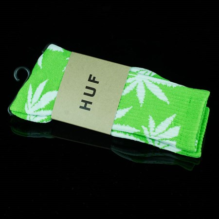 HUF Plant Life Socks Lime, White