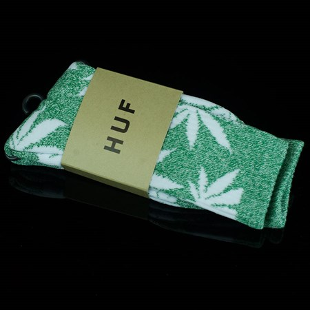 HUF Plant Life Socks Heather Green, White