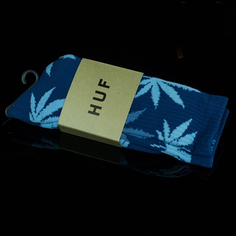 Slate, Dark Blue, Light Blue Socks Plant Life Socks in Stock Now
