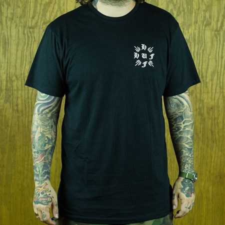 HUF Crossed T Shirt Black in stock now.